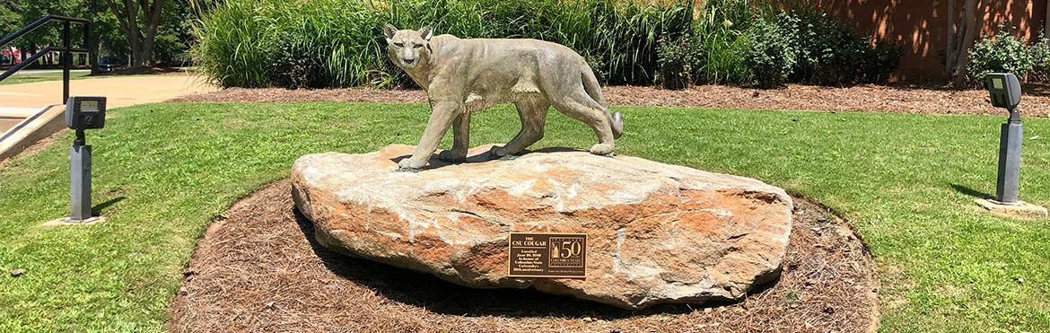 Photo of a cougar statue