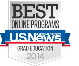 Ranked Top 35 in Online Business and Education Graduate Degrees - U.S. News & World Report