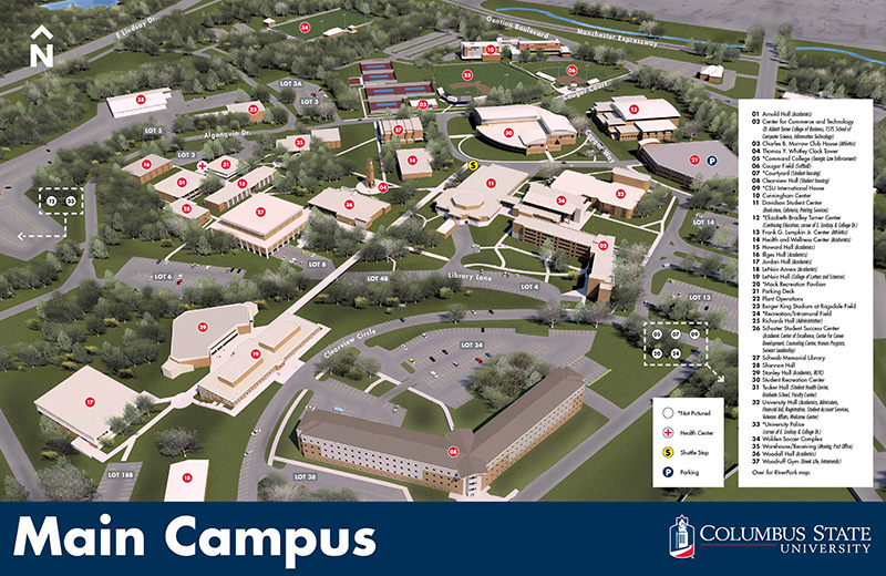 A map of CSU's main campus